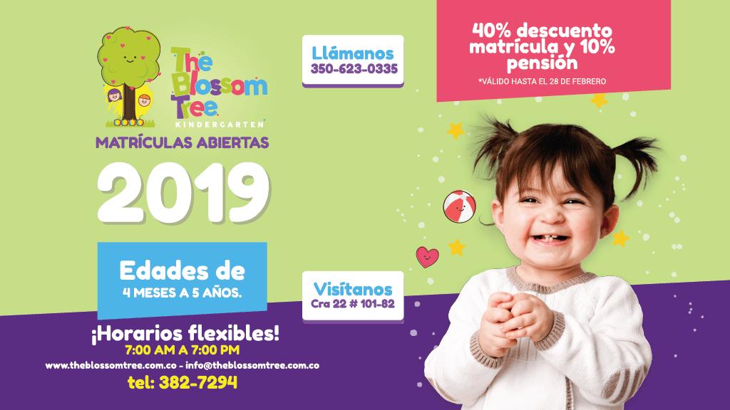 Matrículas abiertas para este 2019 en The Blossom Tree Kindergarten