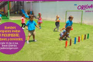 Espacios que invitan al movimiento – Origami Jardines Infantiles (Barranquilla)